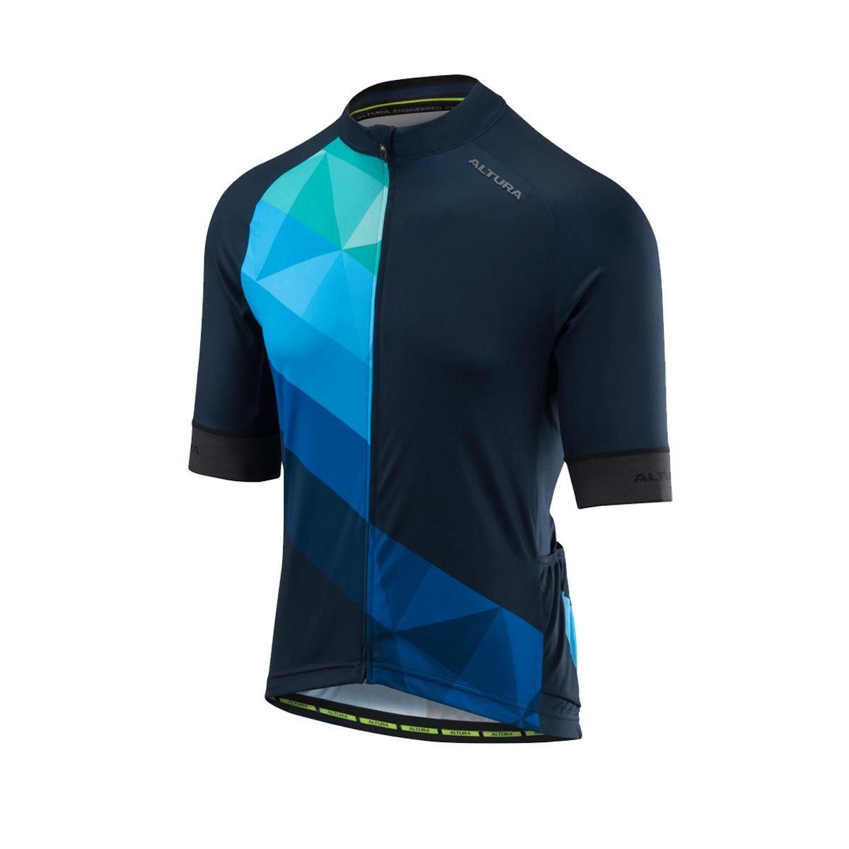 Altura Peloton Short Sleeve Jersey Mosaic 2018: Mosaic Blue/Black L
