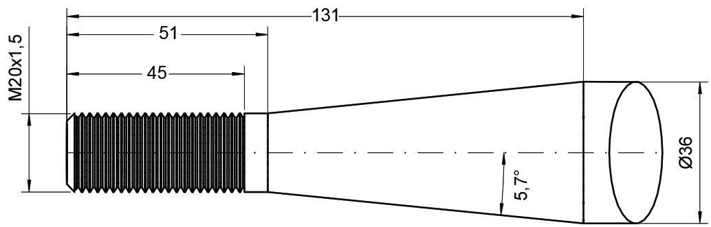 DESVOYS TINE-SPOON END M20 1250MM 77006