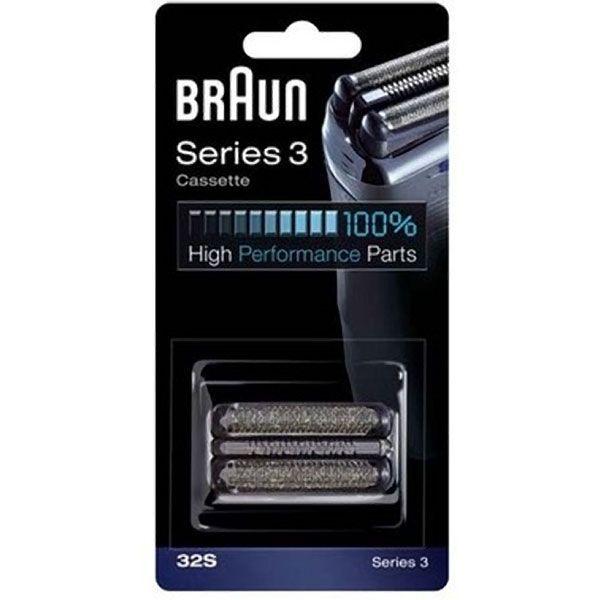 Braun 32S 3 Silver Cassette Foil & Cutter Pack Z632505