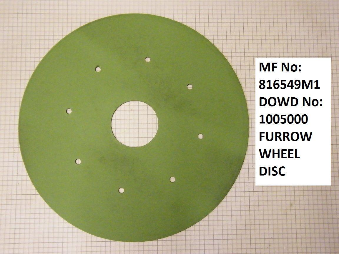 Massey Ferguson FURROW WHEEL DISC Part No:816 549 M1