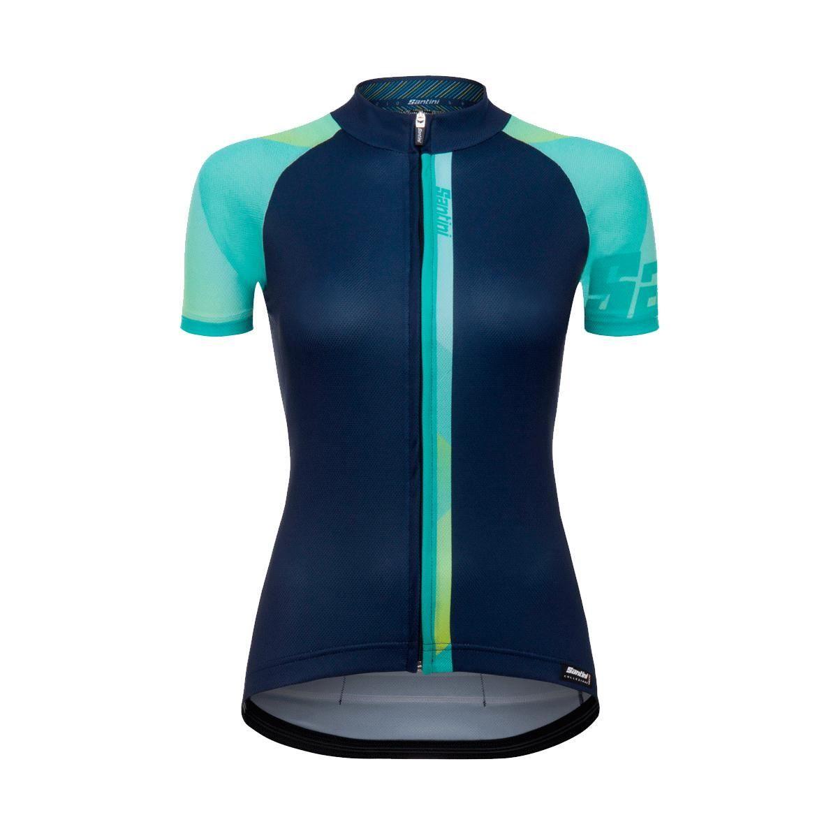 Santini Womens Giada Short Sleeve Jersey 2018: Aqua S