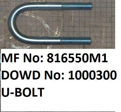 "Massey Ferguson ""U"" BOLT Part No:816 550 M1"