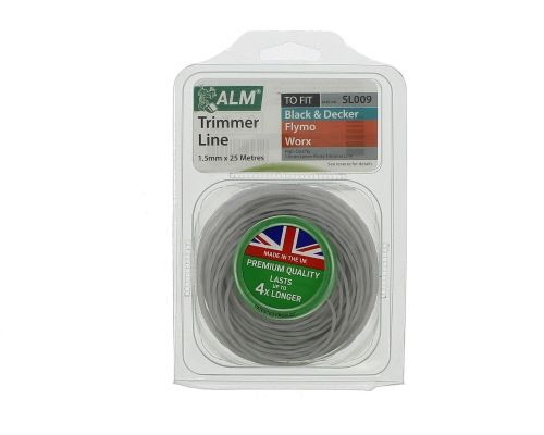 Trimmer Line: 1.5mm 25m Grey Low Noise Cutting Lin