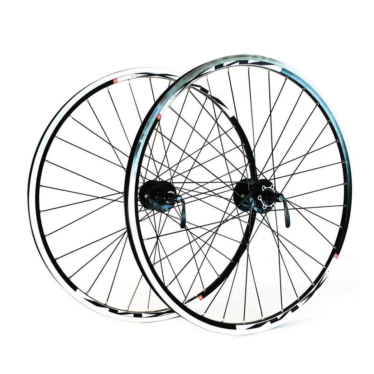 "Wilkinson 26X1.75 Front Wheel - Mach 1 Neuro Mtb Disc Rim - Shimano 475 32 Hole Black Spokes: White 26"""