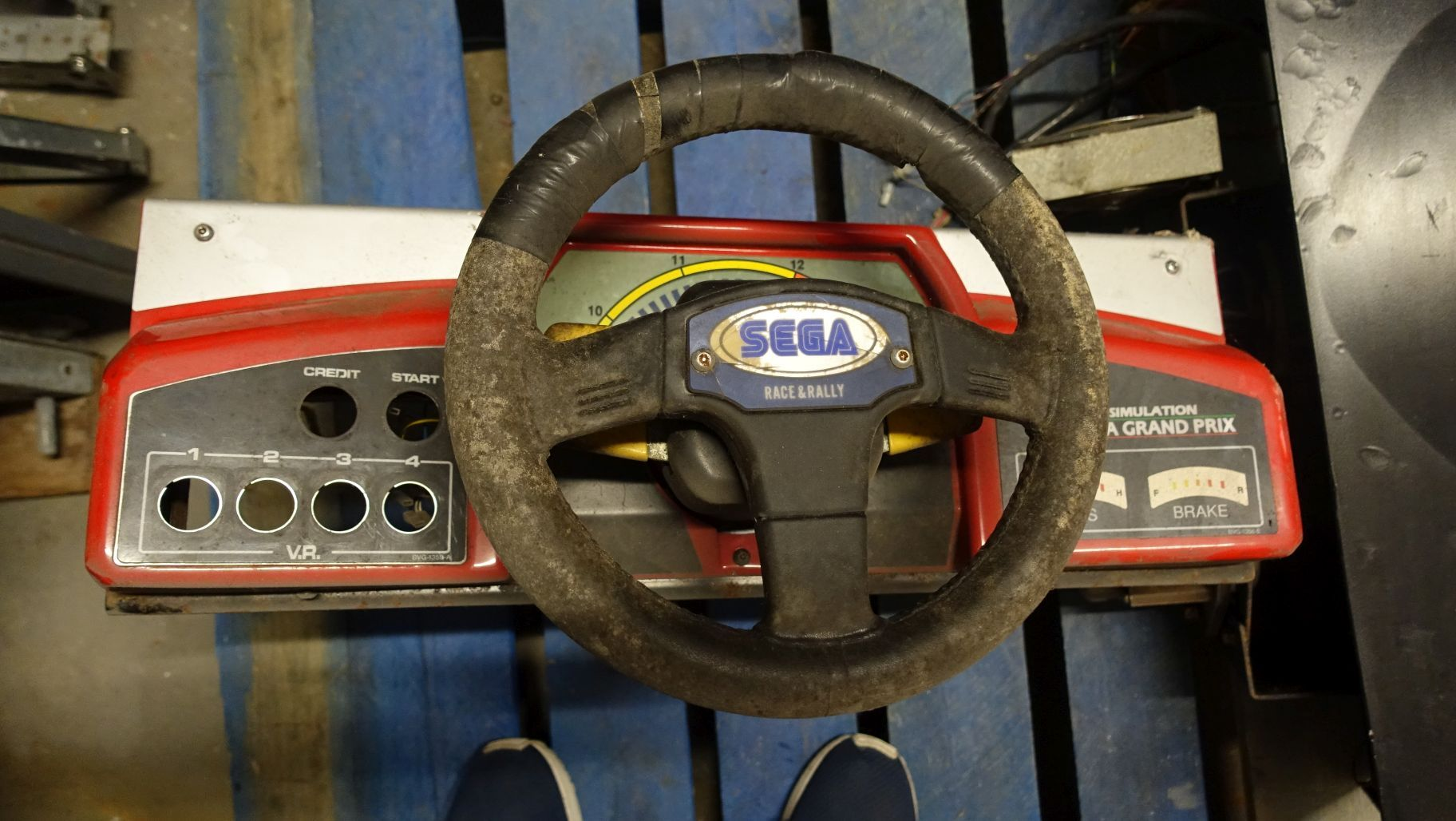VIRTUA RACING STEERING PANEL VIRTUARACINGSTEERINGPANEL