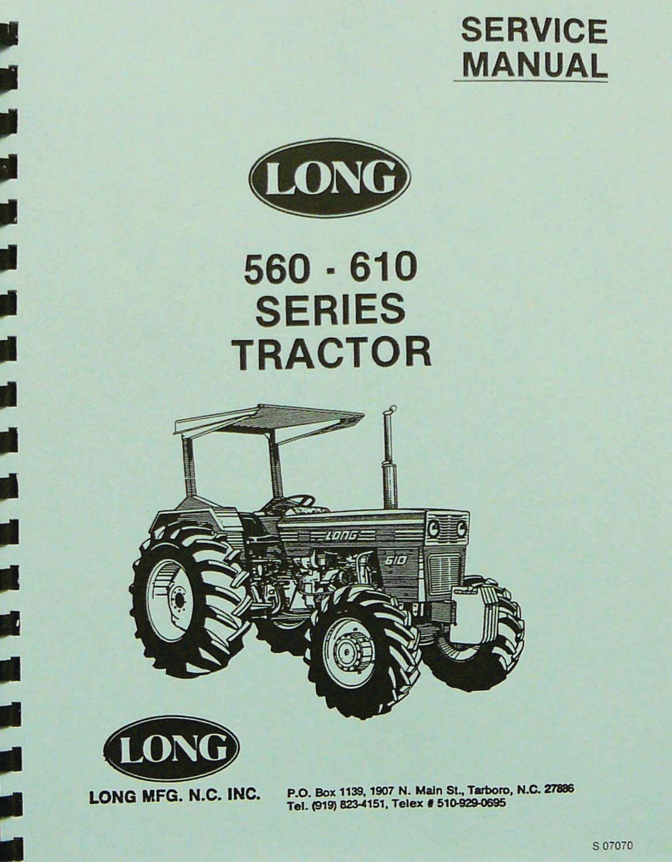 LONG TRACTOR MANUAL 360 460 510 LONG