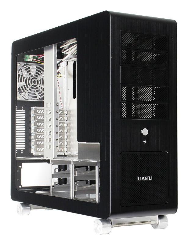 LIAN LI W-V1010B WINDOWED SIDE PANEL - BLACK