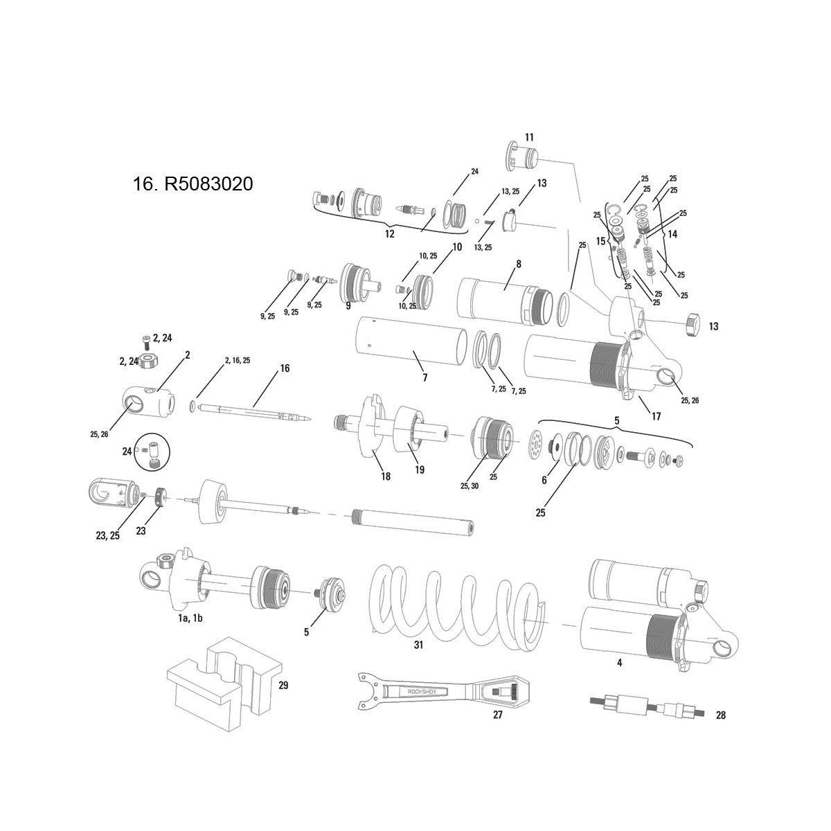 Rockshox Hot Rod Adjuster Needle/O-Ring Vivid/Vivid Air 2011 216X60/216X63Mm: