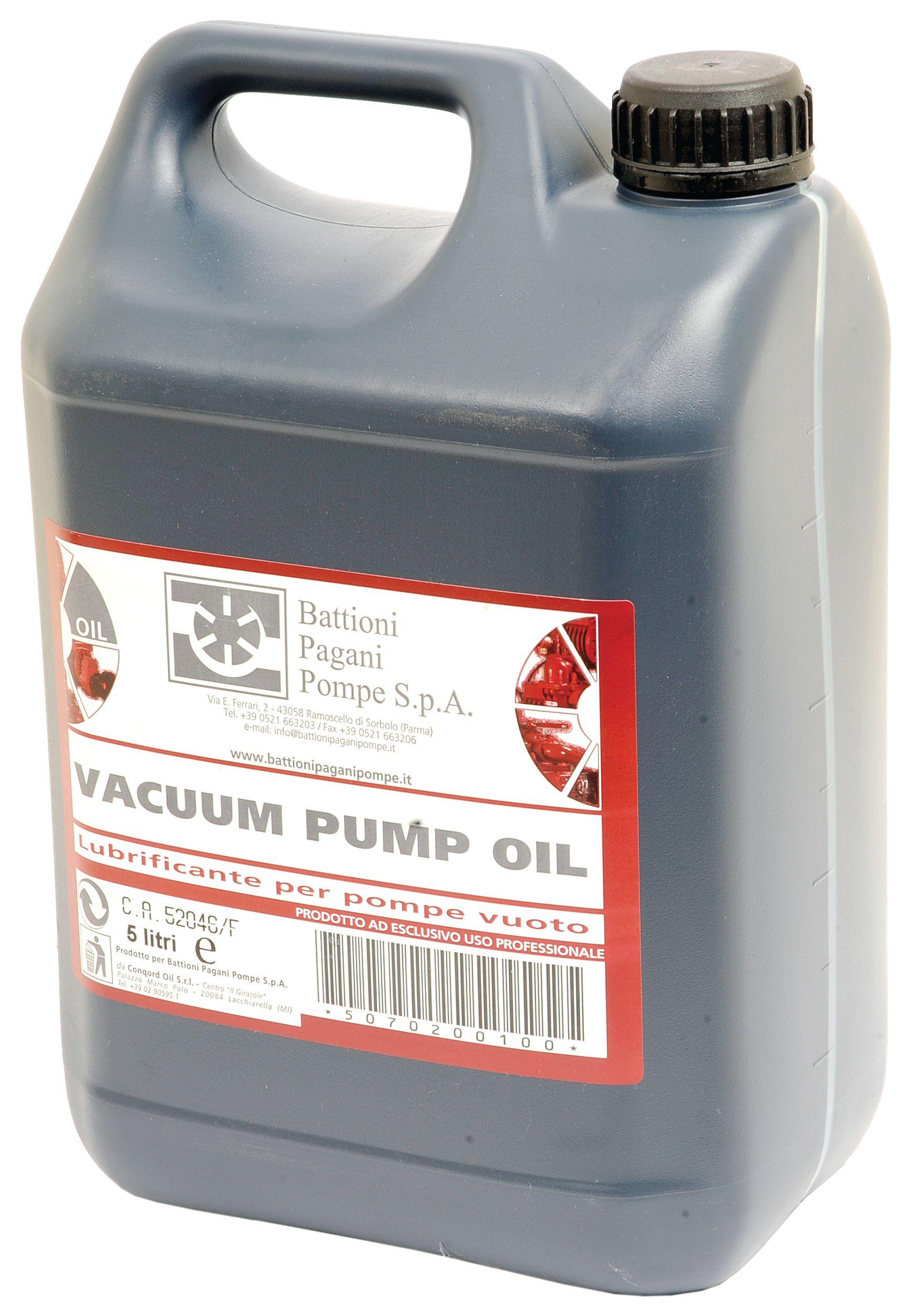 BATTIONI PAGANI POMP OIL-VACUUM PUMP 5LTR