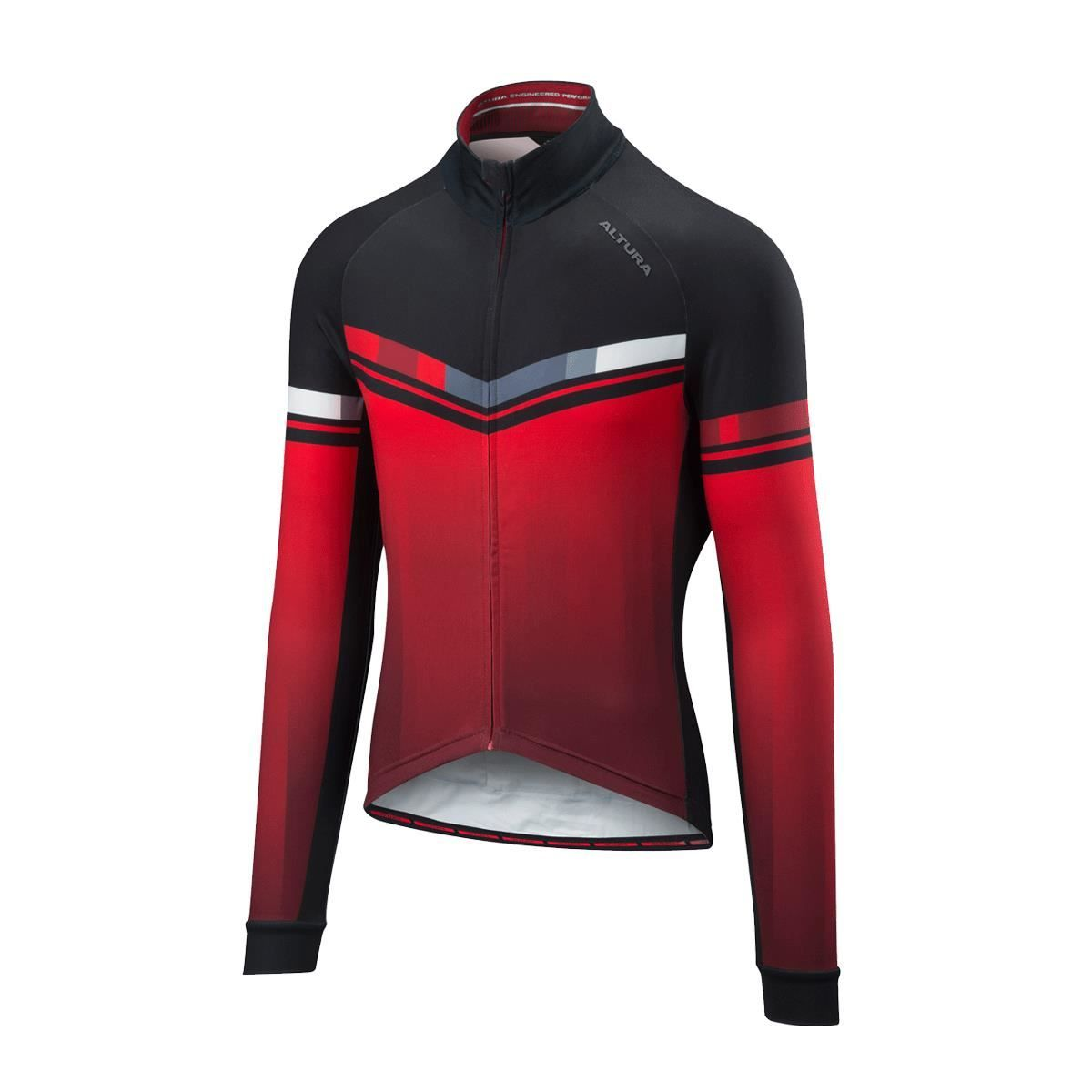 Altura Thermo Invader Long Sleeve Jersey 2018: Red/Black M