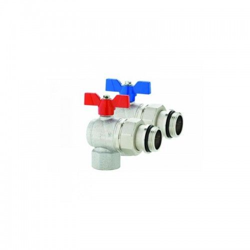 "EMMETI 3/4 "" RIGHT ANGLE BALL VALVE & PIPE UNION - PAIR 9745R005"