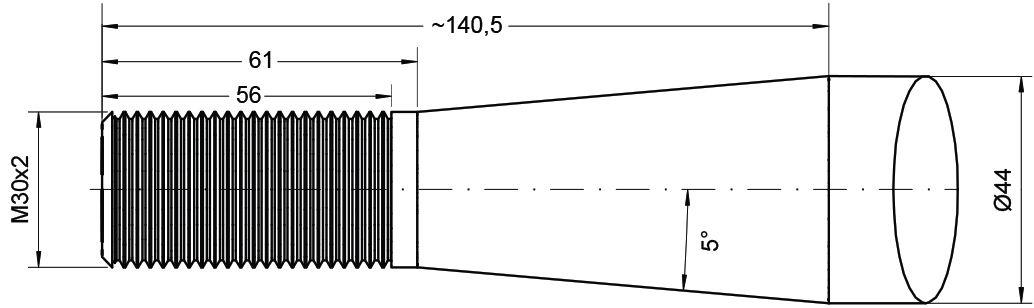 ALO QUICKE TINE-STRAIGHT M30 830MM 79763