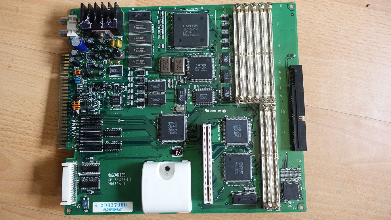 CAPCOM CPS3 MOTHERBOARD CAPCOMCPS3MOTHERBOARD