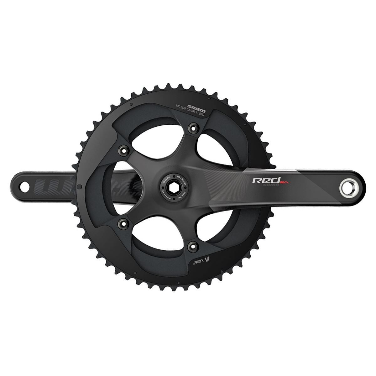 Sram Crank Set Red Bb30 177.5 53-39 Yaw Bearings Not Included C2:  11Spd 177.5Mm 53-39T