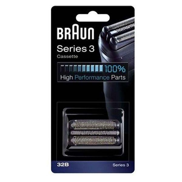 Braun 32B 3 Black Cassette Foil & Cutter Pack Z632504