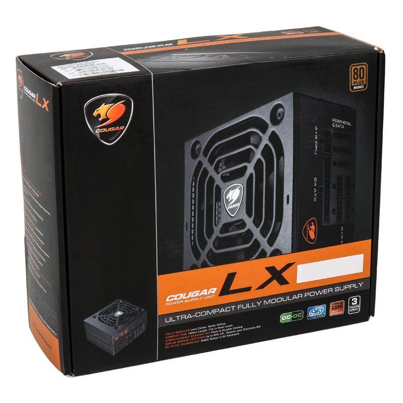 COUGAR LX 600W 80 PLUS BRONZE FULL MODULAR POWER SUPPLY LX600UK