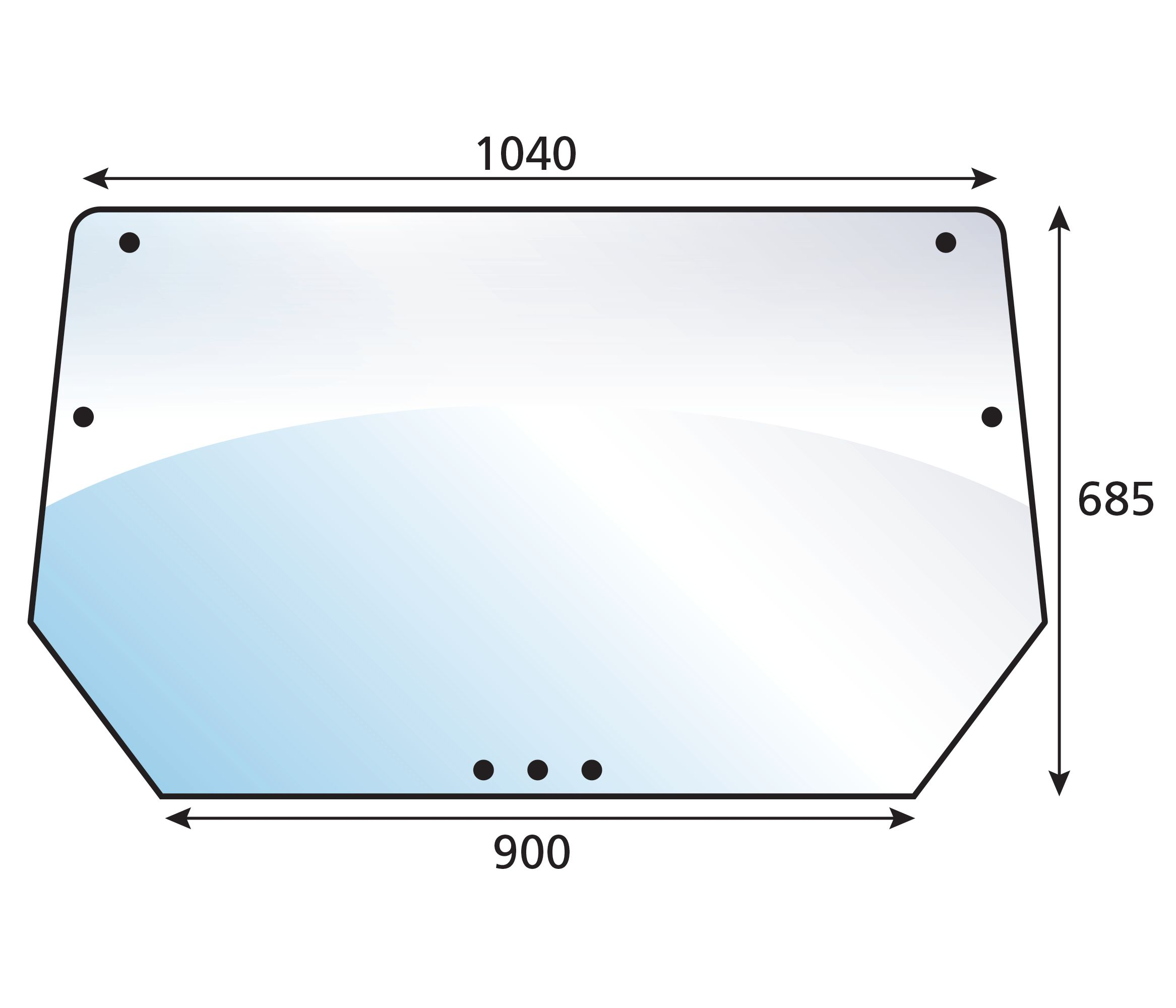 DEUTZ-FAHR GLASS-REAR-TINTED
