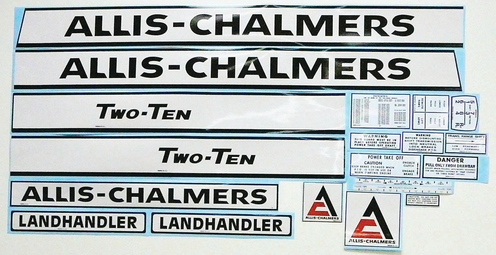 ALLIS CHALMERS DECAL SET- ALLIS CHAMLERS 210