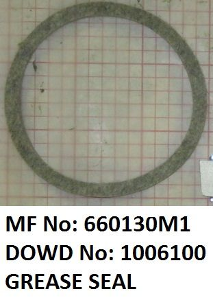 Massey Ferguson GREASE SEAL Part No:660 130 M1