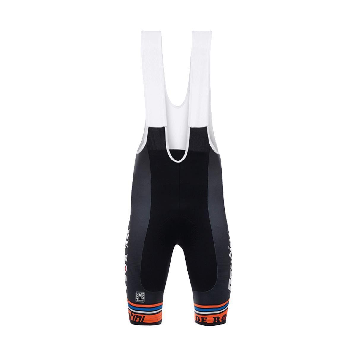 Santini De Rosa 17 Bib Shorts Max 2 Pad 2017: Black Xl
