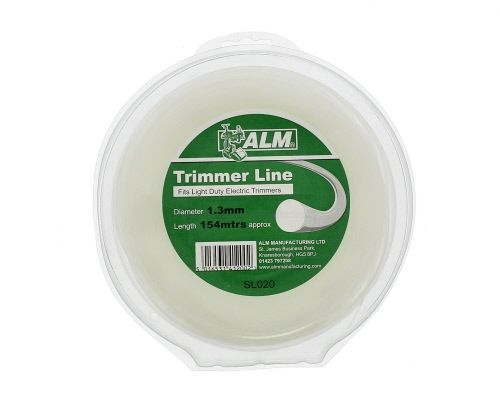 Trimmer Line: 1.3mm 153m White Round Cutting Line SL020