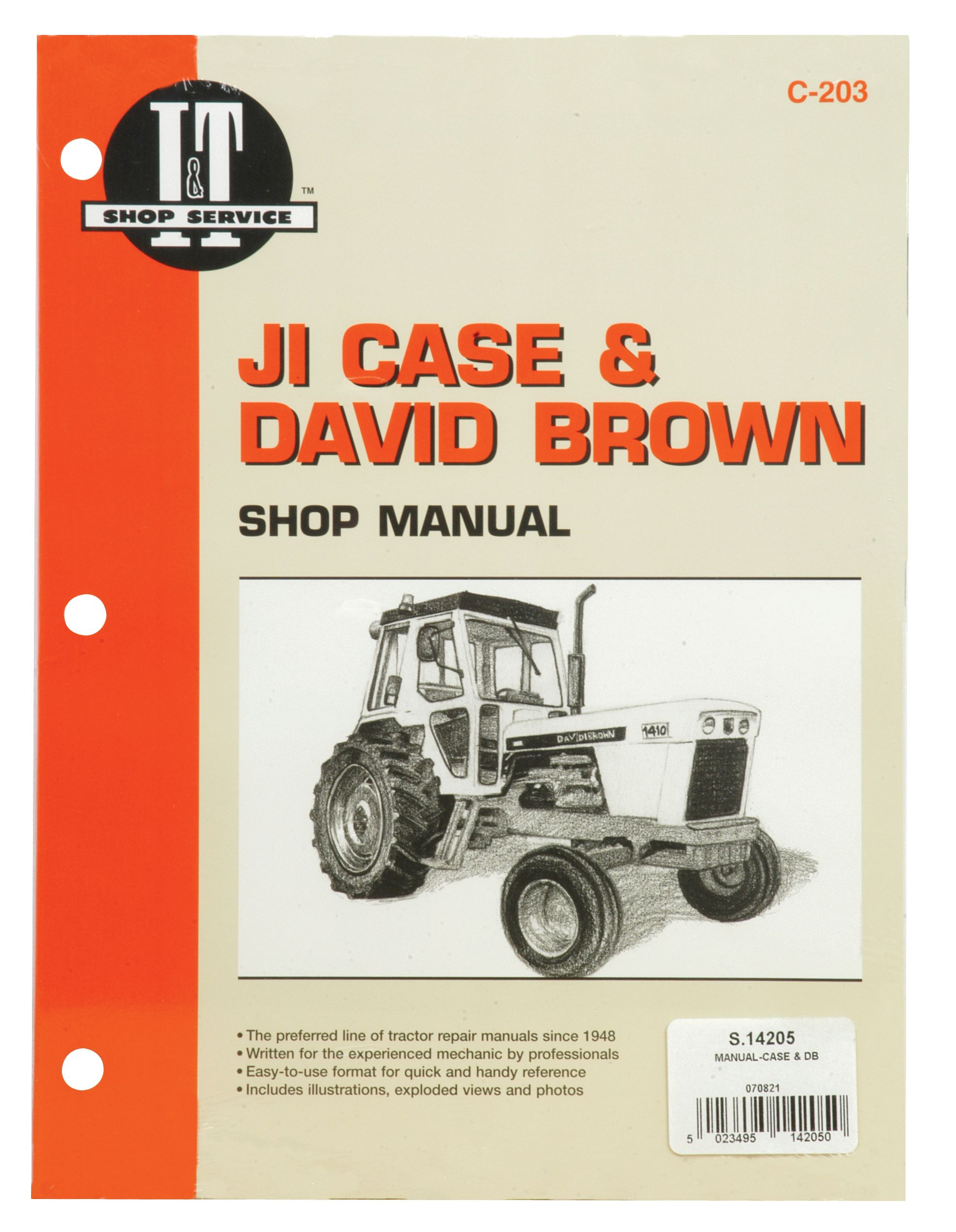 DAVID BROWN MANUAL-CASE & DB 14205
