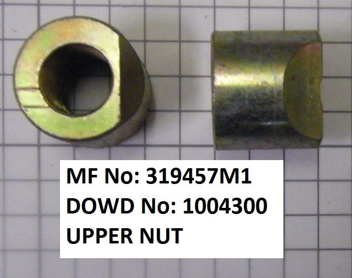 Massey Ferguson UPPER NUT Part No:319 457 M1