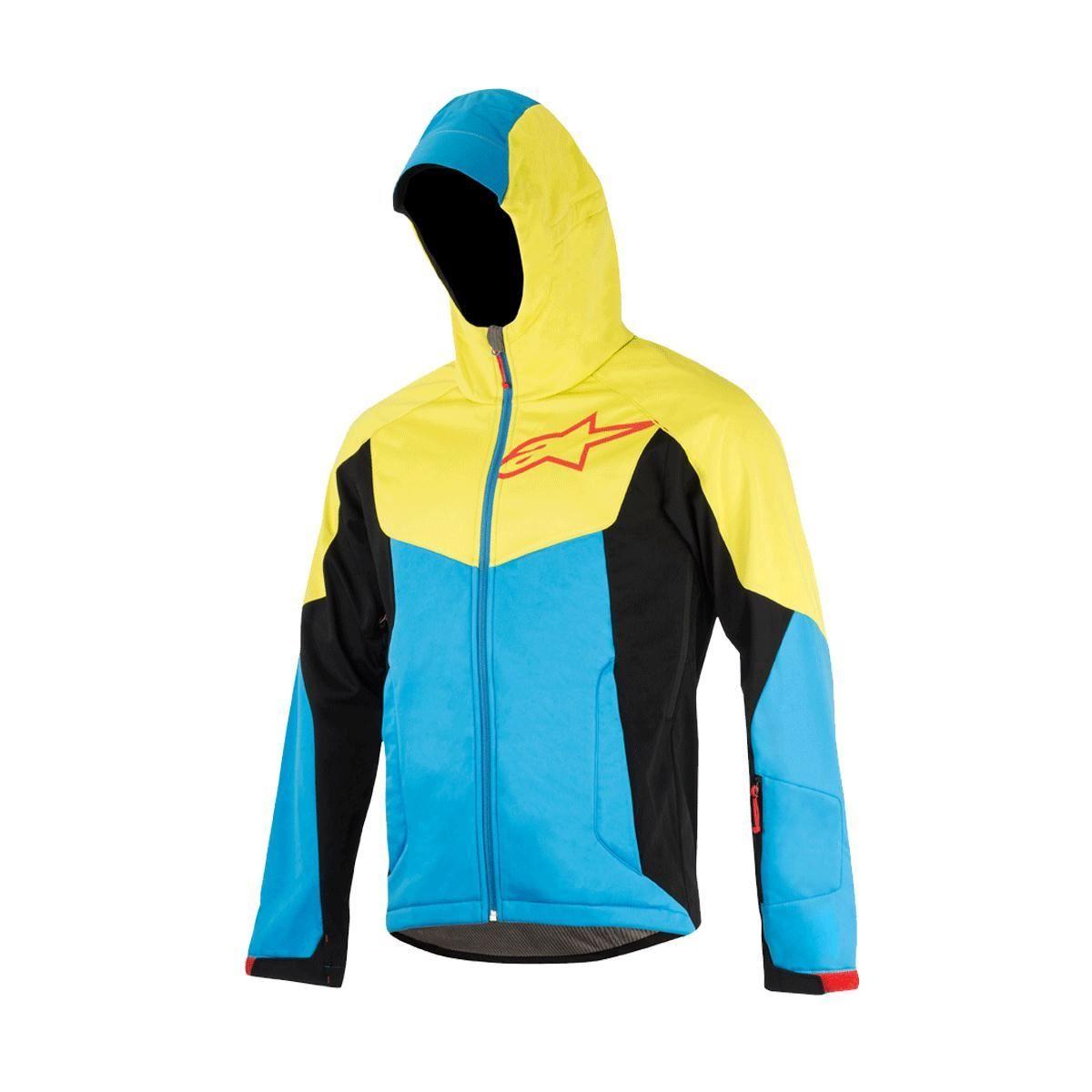 Alpinestars Milestone 2 Jacket 2017: Bright Blue/Acid Yellow L