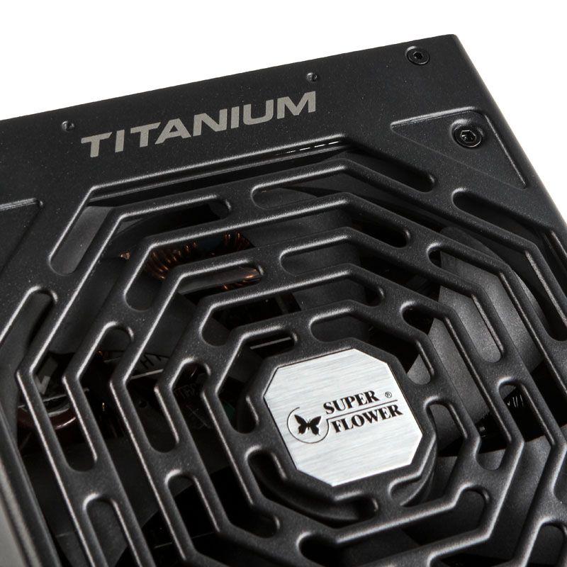 """SUPER FLOWER LEADEX TITANIUM 750W FULLY MODULAR """"80 PLUS TITANIUM"""" POWER SUPPLY - BLACK SF-750F14HT"""
