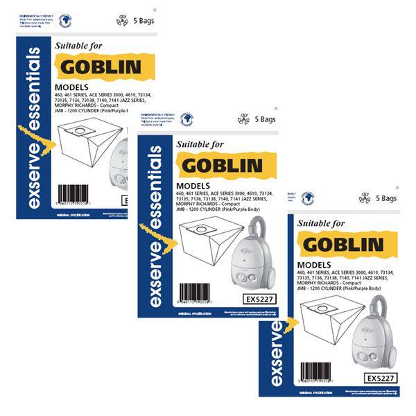 JMB Richards Vacuum Cleaner Paper Bags (3 Packs of 5) (Z634627)