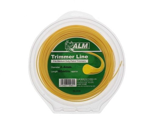 Trimmer Line: 2.4mm 85m Yellow Round Cutting Line
