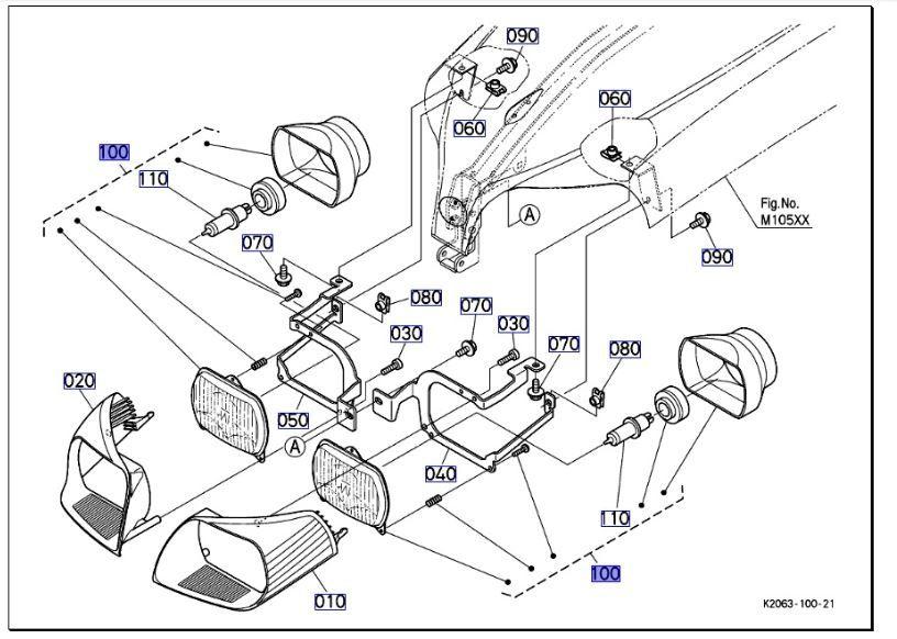 Kubota compact tractor BX2350 Headlight Assembly