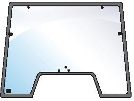 STEYR GLASS-WINDSCREEN-7 HOLES 100575