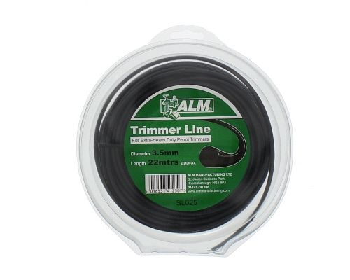 Trimmer Line: 3.5mm 20m Black Round Cutting Line