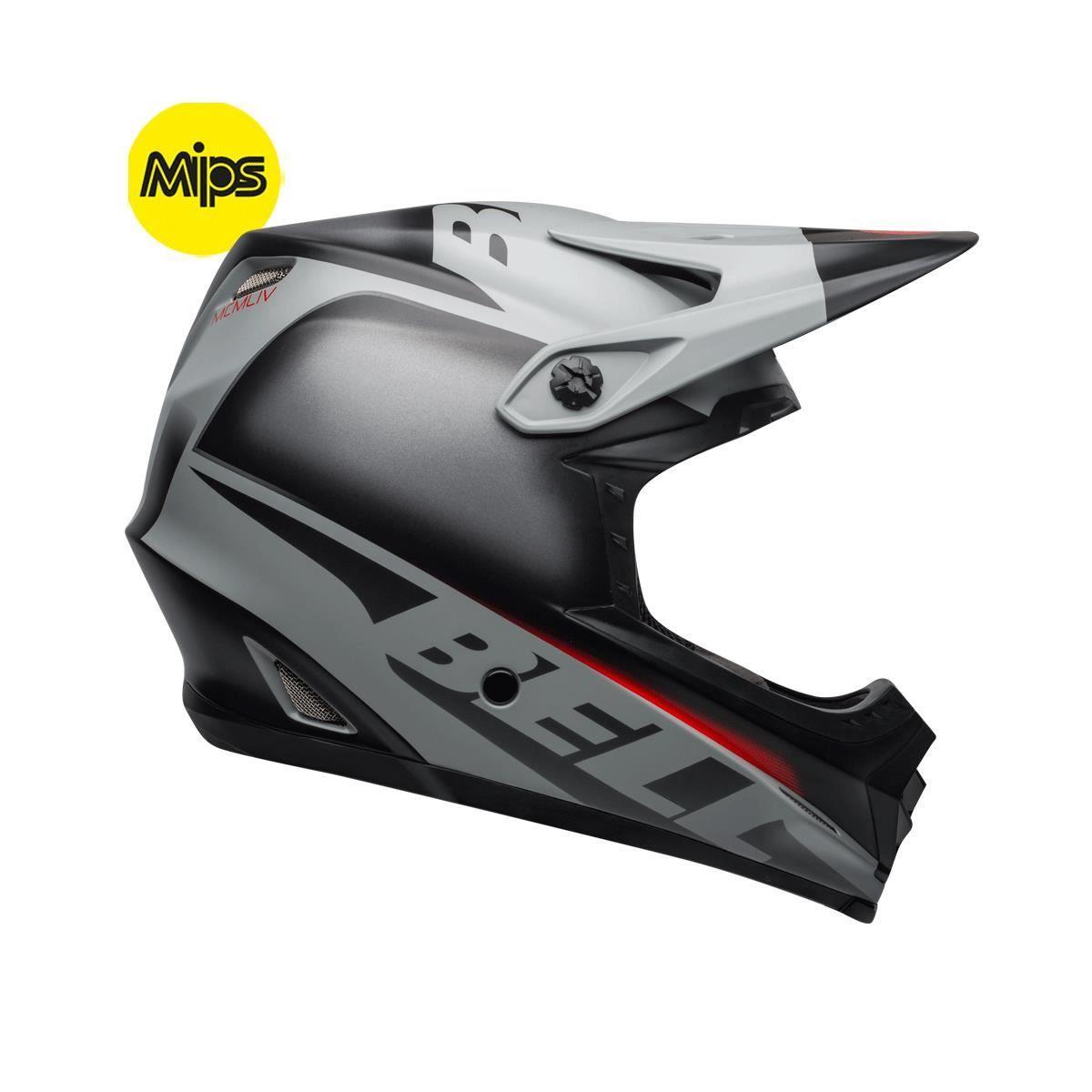 Bell Full-9 Fusion Mips Mtb Full Face Helmet 2019: Matte Black/Grey/Crimson L 57-59Cm