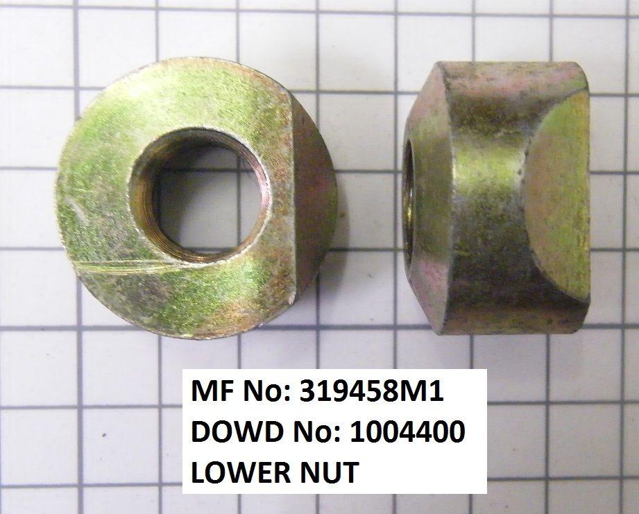 Massey Ferguson LOWER NUT Part No:319 458 M1