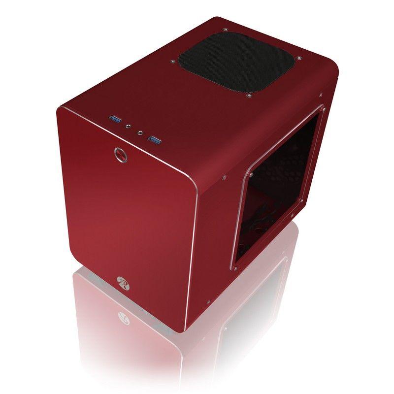 RAIJINTEK METIS PLUS ALUMINIUM MINI-ITX CASE - RED WINDOW 0R200056