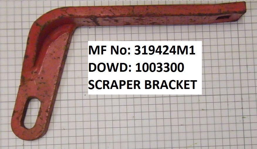 Massey Ferguson SCRAPER BRACKET Part No:319 424 M1