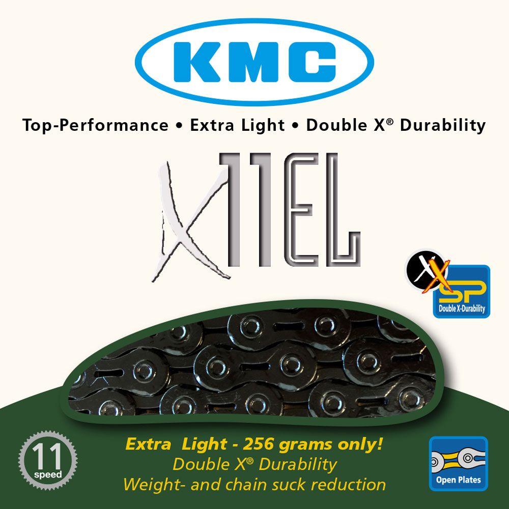 KMC X11-EL BLACK CHAIN 118L K170K