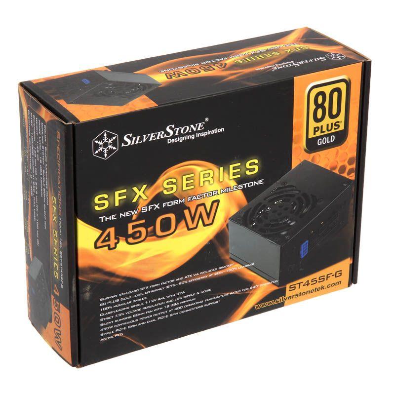 SILVERSTONE STRIDER SFX GOLD 450W '80 PLUS GOLD' MODULAR POWER SUPPLY SST-ST45SF-G