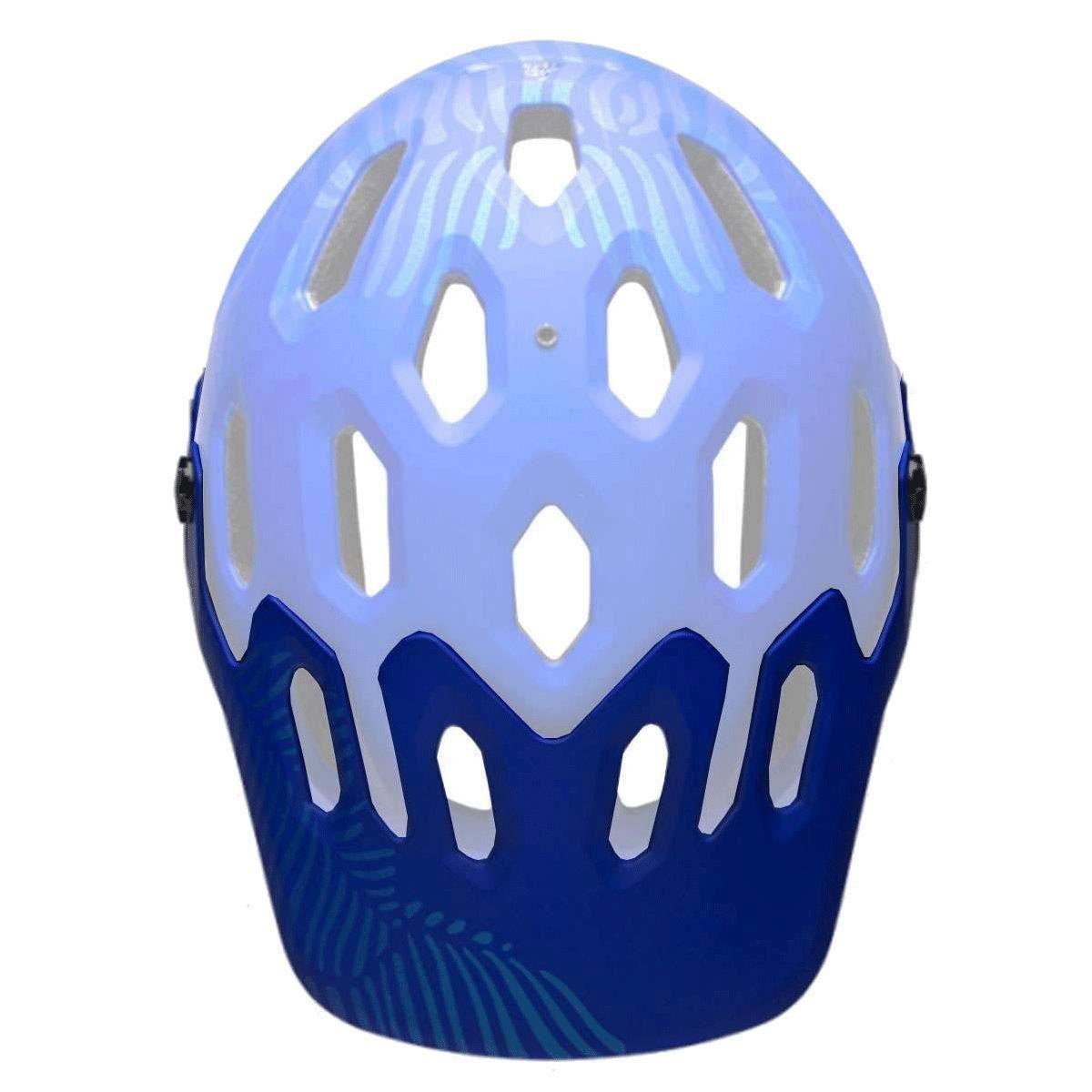 Bell Super 3/3R Helmet Visor: Matt Cobalt/Pearl One Size