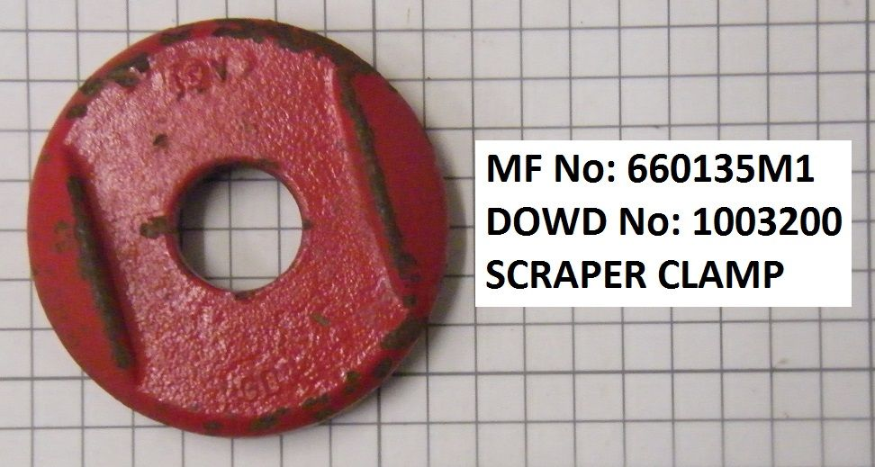 Massey Ferguson SCRAPER CLAMP Part No:319 461 M1