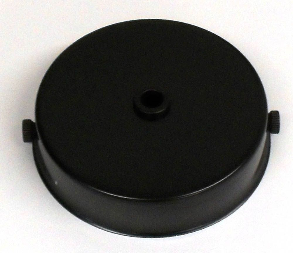 Ceiling Rose Black for Metalbrite Pendant 85mm x 21mm