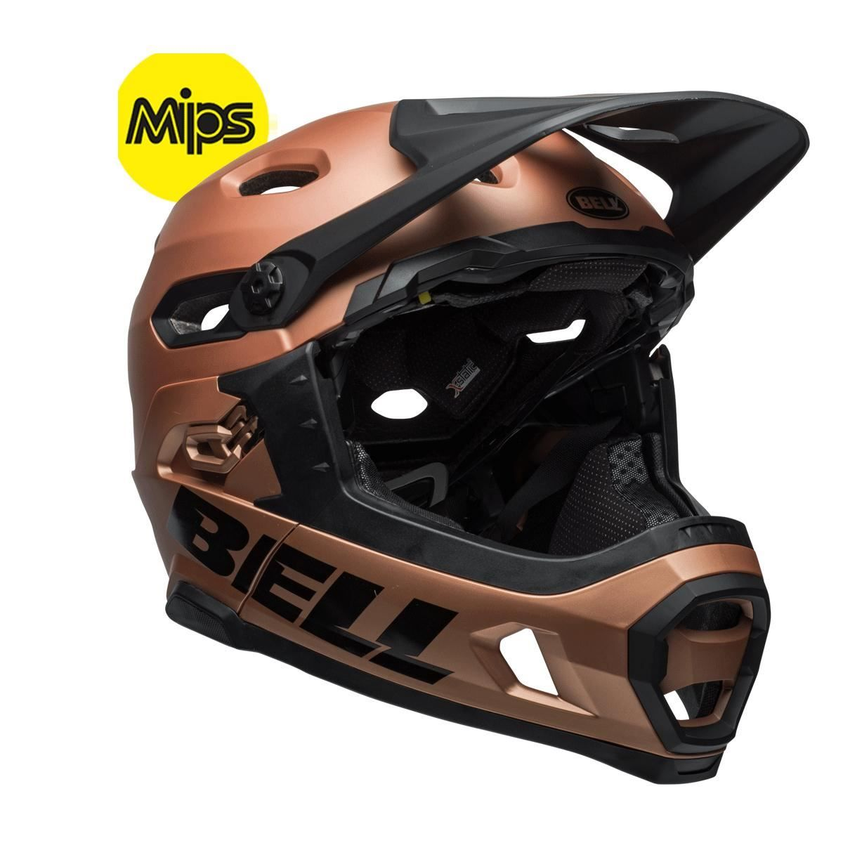 Bell Super Dh Mips Mtb Helmet 2018: Matt/Gloss Copper L 58-62Cm