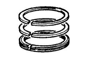 MASSEY FERGUSON COMBINE KIT, PISTON RING (AGCO) 3641316M91