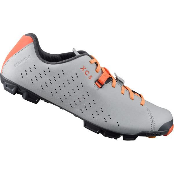 Shimano XC500 SPD MTB shoes, grey / orange, size 41