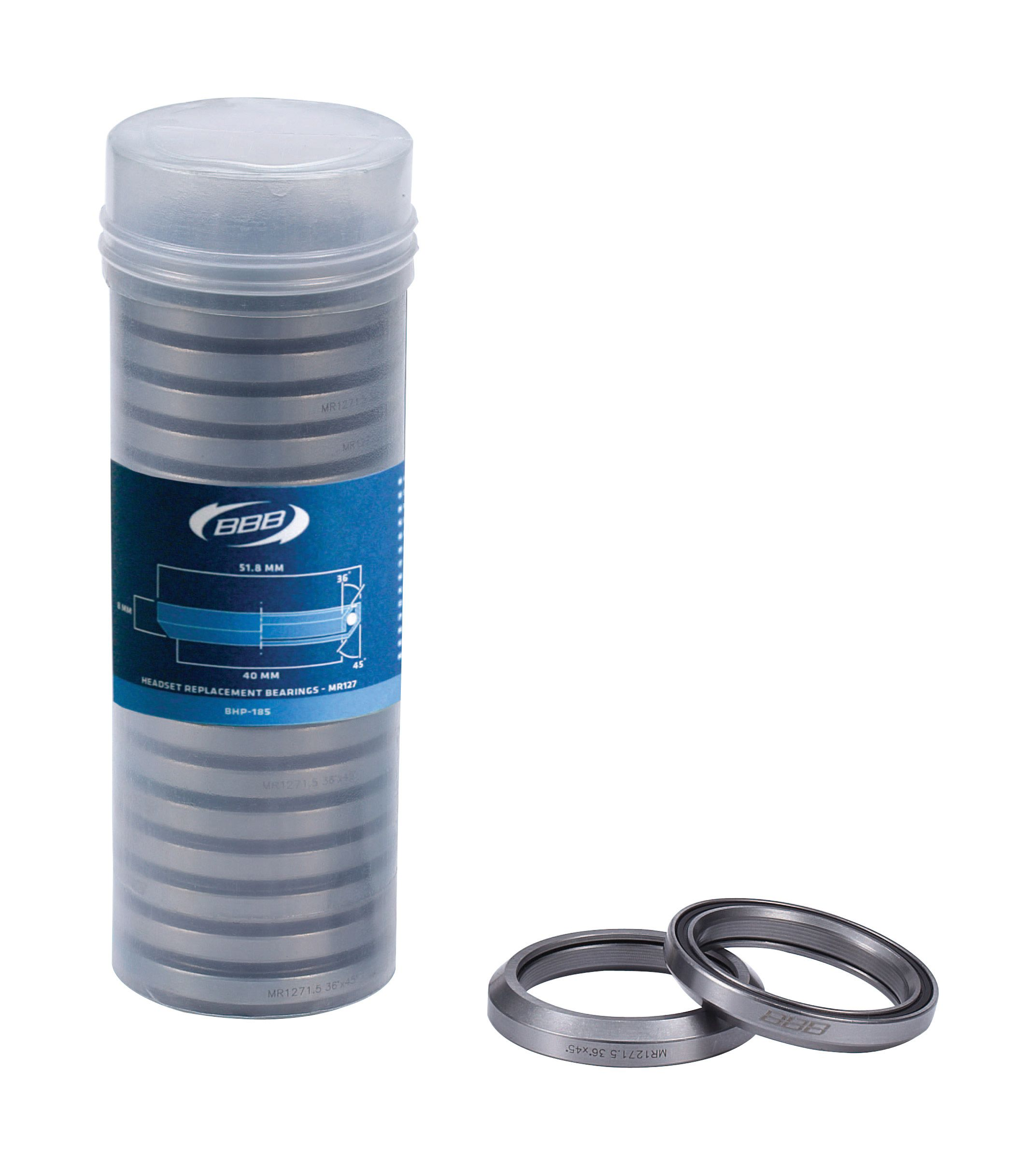 BBB BHP-185 - HEADSET BEARINGS (-20, 1.5, 51.8-8MM, 36 DEGREE-45 DEGREE) 2929628501