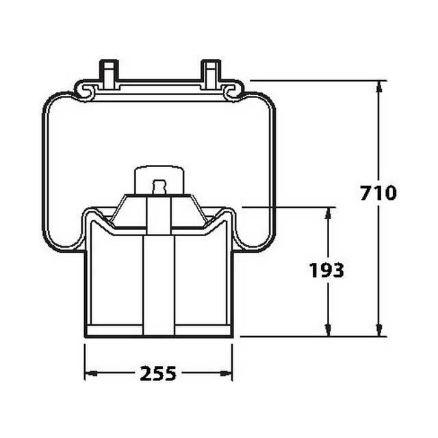AIRSPRING COMPLETE ASSEMBLY (BPW) AS0252