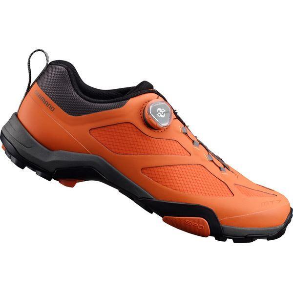 Shimano MT700 SPD MTB shoes, orange, size 44