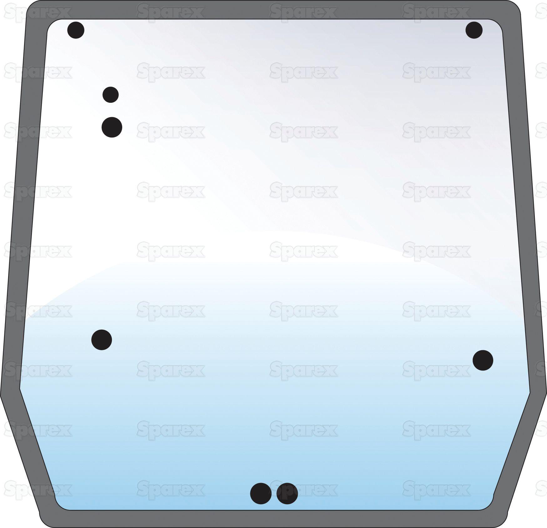 CASE IH GLASS-REAR